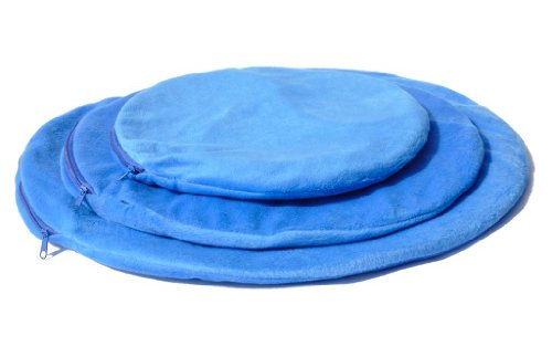PlayaPup Pup Warmer Heating Dog Mat, Pressure Activated with Chew Resistant Cord, Blue, Large
