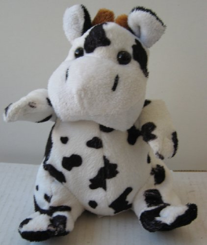 Dairy Cow Stuffed Animal Plush Toy - 7 inches tall
