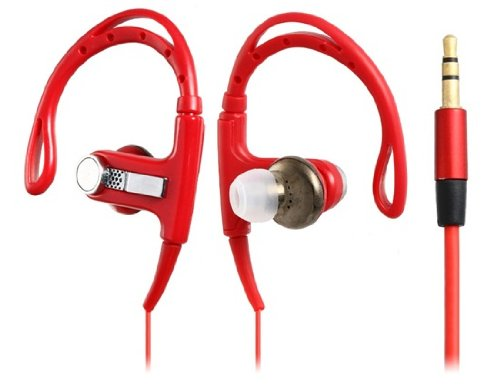 Leobeer Clip-On Headphone For Iphone 5, Ipod Touch 5, Ipod Nano 7, Iphone 4/4S, Ipad 4 (Red)