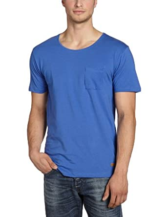 SELECTED HOMME Herren T-Shirt 16025015 Dave O-Neck, Gr. 48 (S), Blau (Dazzling Blue)