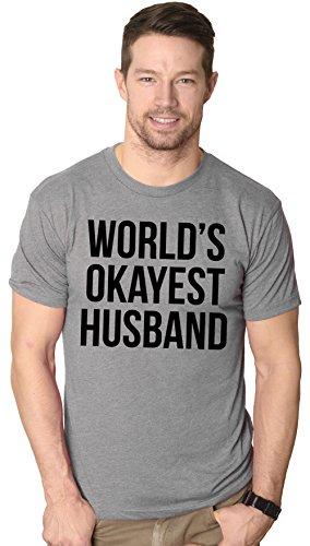 World's Okayest Husband T Shirt funny marriage tee 3XL