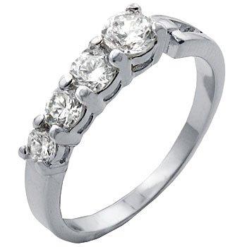 TqwSH020ZCH T9 CZ 4 Diamond Classic Anniversary Ring (9)