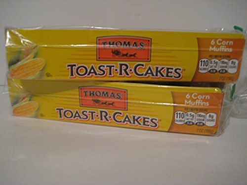 Thomas' Toast-r-cakes Corn Muffins, (2)- Packages of 6ct. English Cakes
