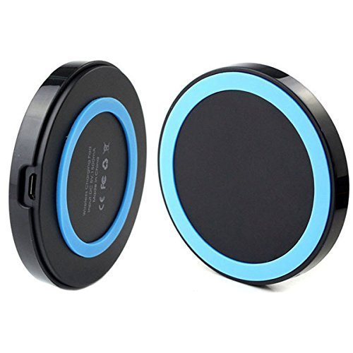 Efanr® Qi Wireless Charger Inductive Charging Pad Station for All Qi Standard Compatible Devices Including Samsung Galaxy S6 S6 Edge LG Optimus Vu2 G4 G3 Nokia Lumia 920 Google Nexus 7 6 5 4 HTC 8X Droid DNA Moto Droid Maxx Droid Mini and Other Qi Enabled Smartphones with Receivers Including iPhone 6 6Plus 5 5S 5C Samsung Galaxy S5 S4 S3 Note 4 Note 3 Note 2 (Blue) (Inductive Charger S5 compare prices)