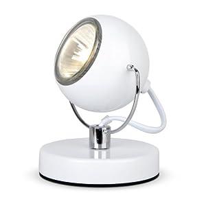 Modern Gloss White Eyeball Spot Desk / Table Lamp