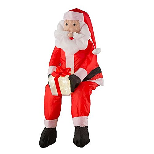 Santa Claus Decorations Uk: Stuffable Lighted Santa Claus Christmas Outdoor Decor