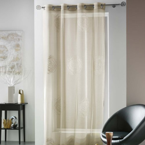 voilage taupe oeillets pas cher. Black Bedroom Furniture Sets. Home Design Ideas