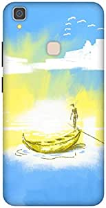 The Racoon Lean printed designer hard back mobile phone case cover for Vivo V3 Max. (Calm Water)