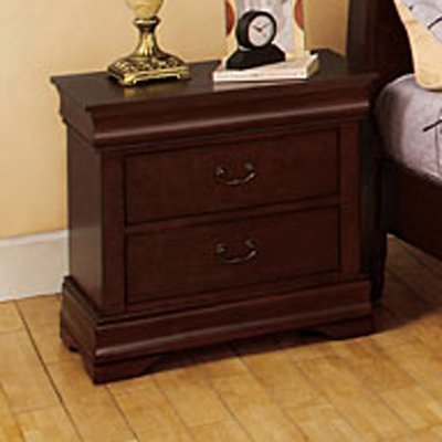 Laurelle Dark Cherry Finish 2-Drawer Nightstand front-4944