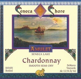 Nv Seneca Shore Wine Cellars Chardonnay Smooth, Seneca Lake Table Wine, Semi-Dry 750 Ml