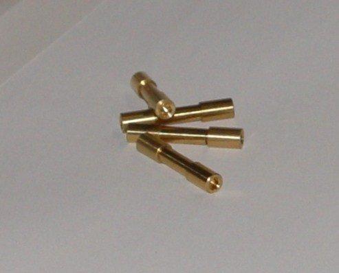 Two Brass Mini Corby Rivets 5/32 Head X 7/8 Length