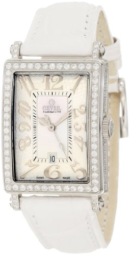 Gevril Women's 7249NV Mini Quartz Avenue of Americas White Diamond Watch