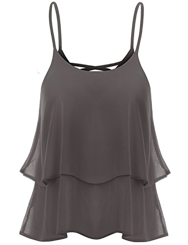 Thanth Sleeveless Loose Fit Strap Loose Fit Tank Top Style Blouse Cocoa S (Blouse Thermal compare prices)