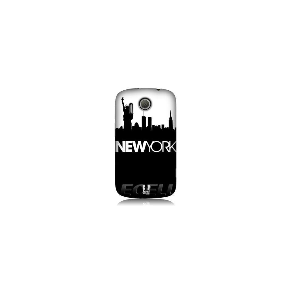 Ecell   HEAD CASE NEW YORK BLACK & WHITE SKYLINE DESIGN