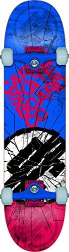 """Cartel, Skateboard completo Shatter, Blu (Bleu/Rouge), 7,8"""" x 31,5"""""""