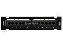 Monoprice 12-Port Vertical Cat6 Mini Patch Panel (110 Type) (568A/B)