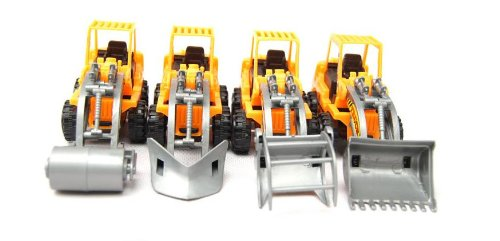 Truck Mobile Machinery Shop:bulldozer,road Roller Assortment Set of 4, style may vary