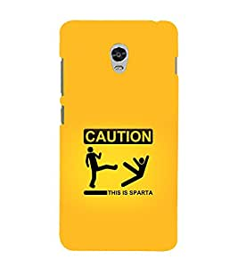 printtech Funny Sparta Quote Back Case Cover for Lenovo Vibe P1