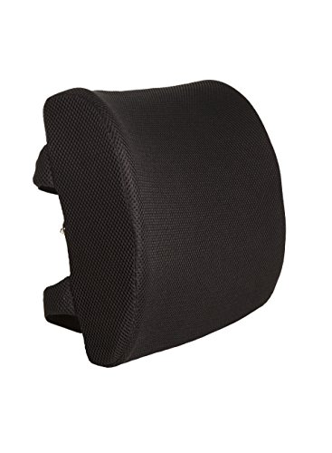 100% Pure Memory Foam Back Cushion - Orthopedic Design for Back Pain Relief - Lifetime Replacement Guarantee - Lumbar Support Pillow With Dual Premium Adjustable Straps - Hypoallergenic (Position Secured compare prices)