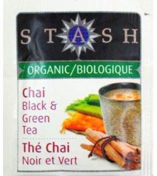 Stash Organic Tea - Premium Chai Black & Green [126 Pieces] *** Product Description: Stash Organic Tea - Premium Chai Black & Green. Single Tea Bag In Sealed Packet. Organic And Natural. ***
