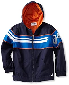 ASICS Boys 2-7 Little Boy Distance Track Jacket, Peacoat, 7