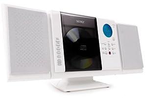 Denver MCU-5210WH Mini impianto stereo Hi Fi con lettore CD MP3 (USB, SD, AUX IN, radio AM / FM) bianco
