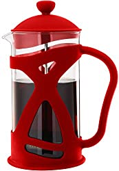 Sunlit French Press Coffee Maker (1.0 L, Red), A Perfect Cup Of Coffee, Brewed in Style