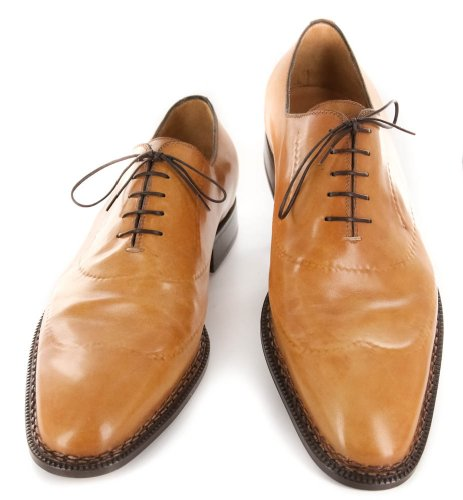 New Sutor Mantellassi Caramel Brown Leather Shoes 11 510 5