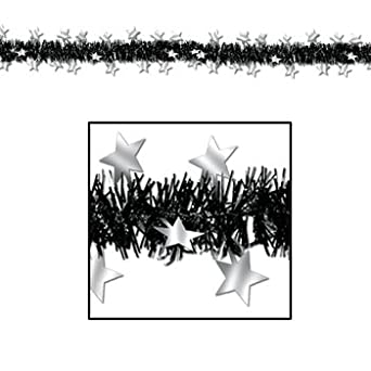 FR Metallic Star Garland (black & silver) Party Accessory  (1 count) (1/Pkg)