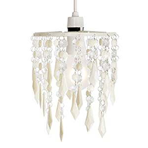 MiniSun - Elegant Chandelier Design Ceiling Pendant Light Shade With Beautiful Acrylic Jewel Effect Droplets from MiniSun