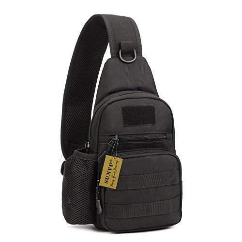 Tactical Military Sling Chest Pack Bag (Black) (Used Tactical Gear compare prices)