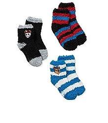 Paw Patrol Toddler Boys Quarter Socks Soft Fuzzy Non Slip Grip 2T-4T