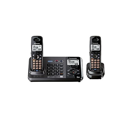 Panasonic Dect 6.0 Expandable 2-Line Dual-Handset Digital Cordless Phone System With Caller Id, Answering System And Bluetooth Capability