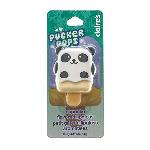 Claire's - Femmes - Brillant À Lèvres Panda Pucker Pops Saveur Cupcake - Noir / Blanc