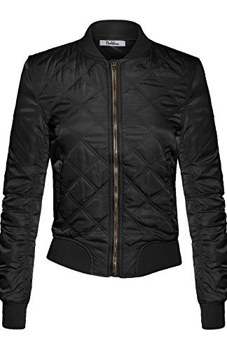 bodilove-womens-classic-padded-down-bomber-jacket-with-zipper-black-l-tsj-2581