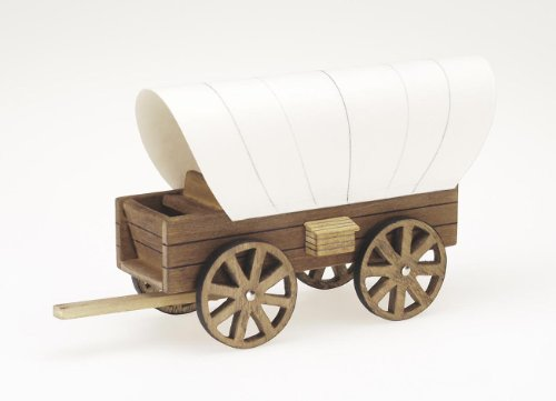 Darice 9181-24 Wooden Model, Cover Wagon Kit