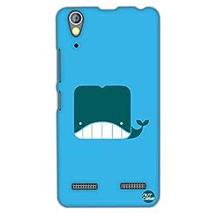 Designer Lenovo A6000 Plus Case Cover Nutcase - Cute Whale