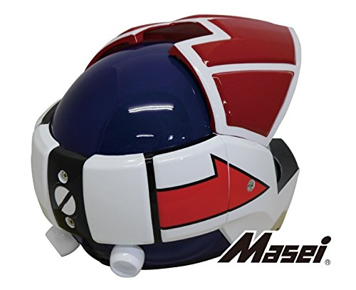 Masei ジェットヘルメット ロボヘル911 レッド/ブルー HELMET LMA-911-RWB-L