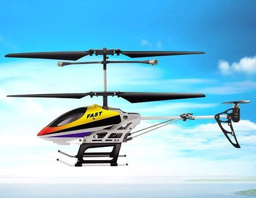 SongYang TOYS 8088-38 3.5-Channel Alloy Infrared RC Helicopter (Yellow)
