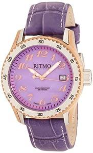 Ritmo Mundo Women's 233 RG Purple MOP Extreme Quartz Mother-Of-Pearl Dial Watch