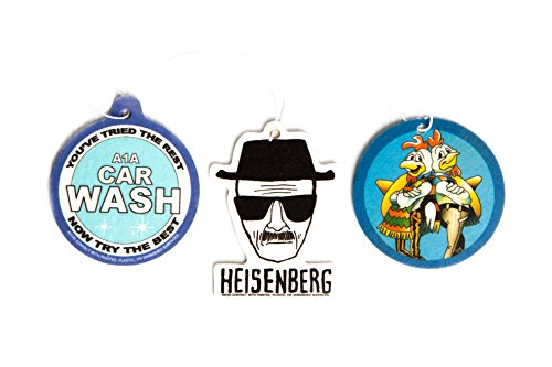Breaking Bad Air Freshener Set of 3 - Heisenberg, Pollos Hermanos, and A1A Carwash