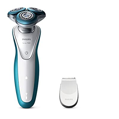 Philips S7320/12 Aqua Touch Wet and Dry Electric Shaver with Aqua Tec Wet and Dry (Blue/White)