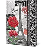 Punch Studio, Journal with Magnetic Flap Clasp Closure - Belle France