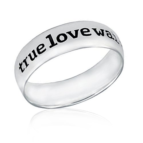 sterling silver purity rings for