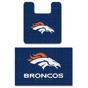 NFL Denver Broncos 2Pcs Bathroom Rug Bath Mat Set at Amazon.com