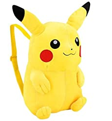 "13"" Tall Pokemon Pikachu Plush Backpack"