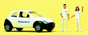Preiser 1/87 Figure 2 Figure social service body, car set (japan import)