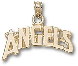 Los Angeles Angels of Anaheim Arched Angels with a Halo 5 8 Pendant - 14KT Gold... by Logo Art