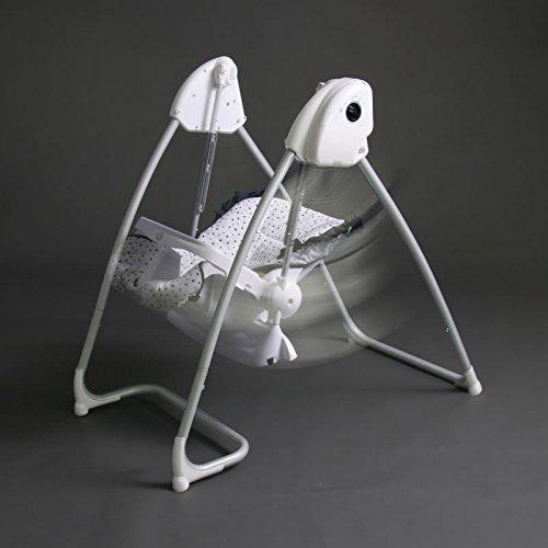 2-in-1-Hochstuhl-elektrische-Babyschaukel-weiblau-Homey