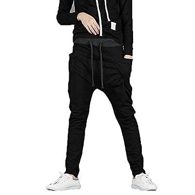 Juanshi Mens Sports Baggy Jogging Harem Pants Color Black Size XL